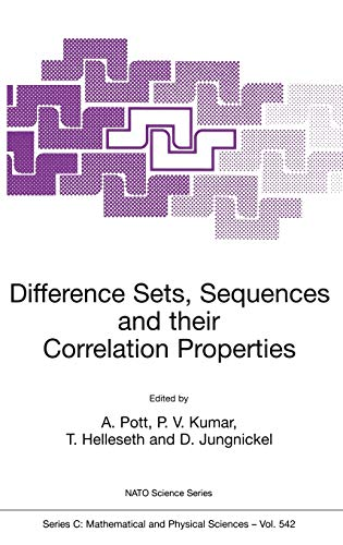 9780792359586: Difference Sets, Sequences and their Correlation Properties (Nato Science Series C:)