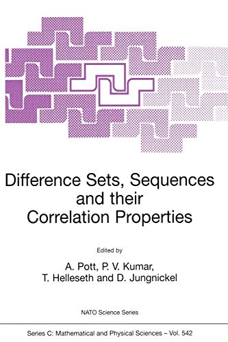 9780792359593: Difference Sets, Sequences and Their Correlation Properties (NATO SCIENCE SERIES: C Mathematical and Physical Sciences Volume 542)