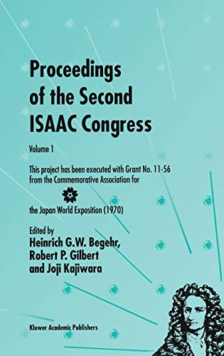 9780792365976: Proceedings of the Second ISAAC Congress: Volume 1: This project has been executed with Grant No. 11-56 from the Commemorative Association for the ... for Analysis, Applications and Computation)