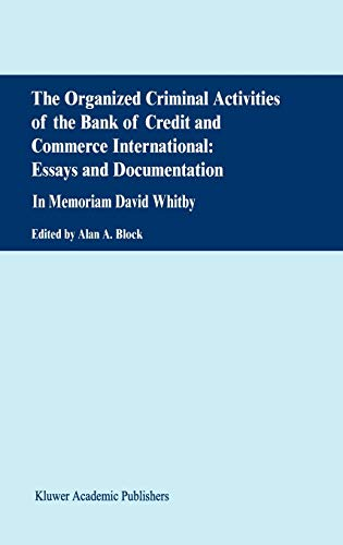 9780792370628: The Organized Criminal Activities of the Bank of Credit and