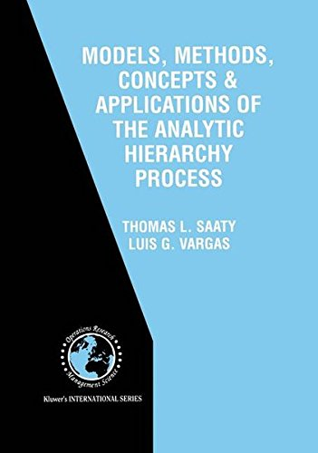 9780792372677: Models, Methods, Concepts & Applications of the Analytic Hierarchy Process (International Series in Operations Research & Management Science)