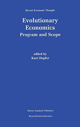 9780792373940: Evolutionary Economics: Program and Scope (Recent Economic Thought)