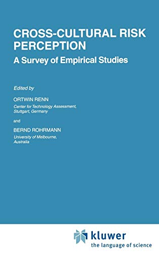 9780792377474: Cross-Cultural Risk Perception: A Survey of Empirical Studies (Risk, Governance and Society)
