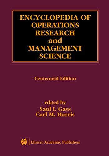 9780792378273: Encyclopedia of Operations Research and Management Science