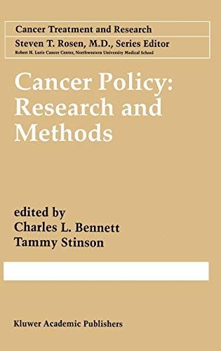 Cancer Policy Research Methods