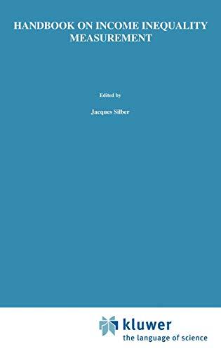 Handbook of Income Inequality Measurement (Hardback)