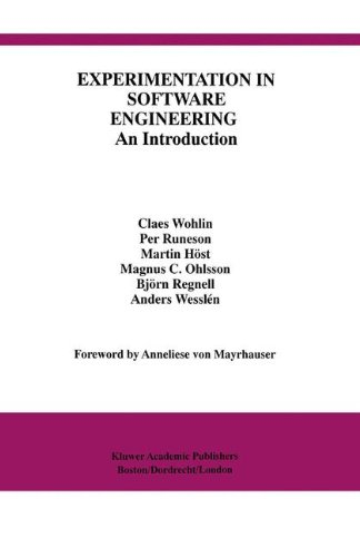 9780792386827: Experimentation in Software Engineering: An Introduction (International Series in Software Engineering)
