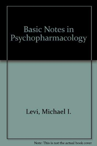 9780792388067: Basic Notes in Psychopharmacology