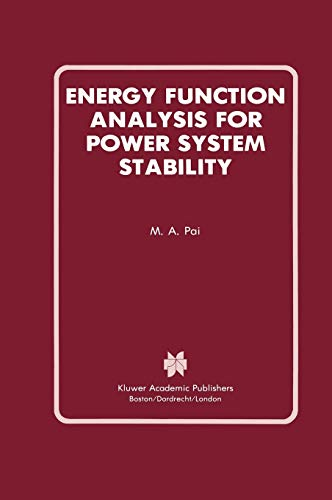 9780792390350: Energy Function Analysis for Power System Stability (Power Electronics and Power Systems)