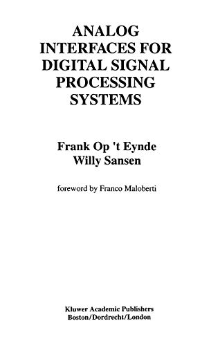 Analog Interfaces for Digital Signal Processing Systems: op 't Eynde,