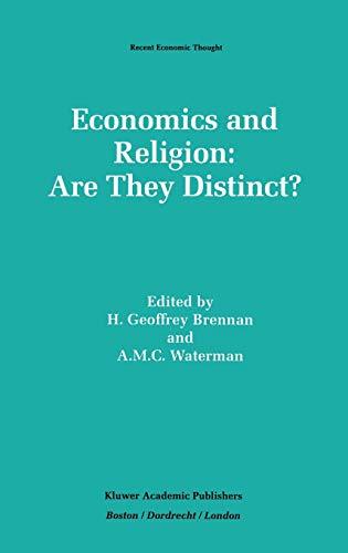 9780792394433: Economics And Religion: Are They Distinct? (Recent Economic Thought)