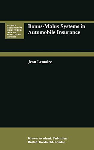 9780792395454: Bonus-Malus Systems in Automobile Insurance