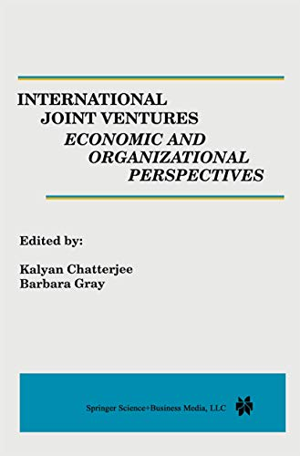 9780792396031: International Joint Ventures: Economic and Organizational Perspectives