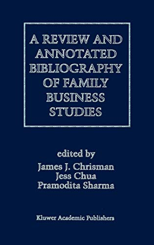 9780792397830: A Review and Annotated Bibliography of Family Business Studies