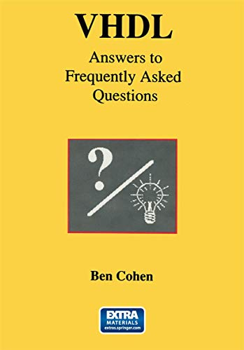 9780792397915: VHDL Answers to Frequently Asked Questions