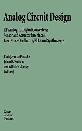 Analog Circuit Design: RF Analog-to-Digital Converters; Sensor: Editor-Rudy J. van