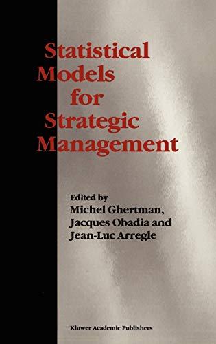 9780792399704: Statistical Models for Strategic Management