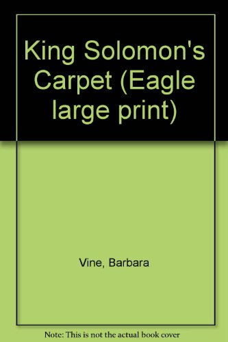 9780792710585: King Solomon's Carpet (Eagle Large Print)