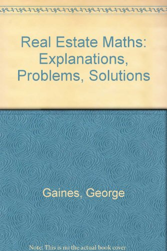 9780793116348: Real Estate Math: Explanations, Problems and ...