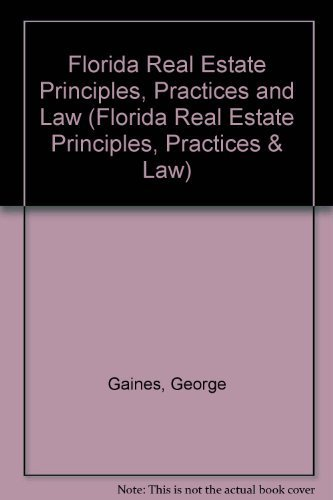 9780793103157: Florida Real Estate Principles, Practices and Law (Florida Real Estate Principles, Practices & Law)