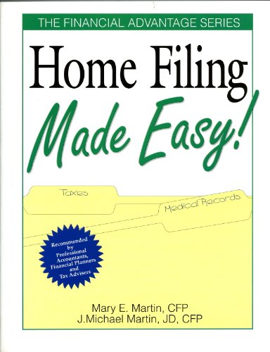 9780793106103: Home Filing Made Easy! (The Financial Advantage)
