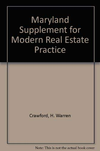 9780793106295: Maryland Supplement for Modern Real Estate Practice