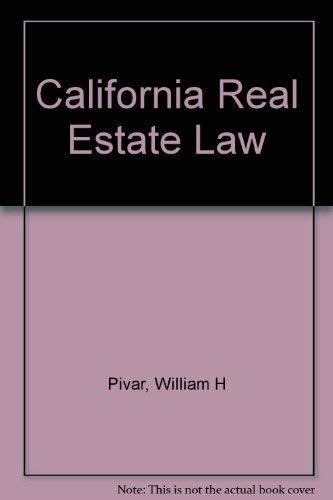 9780793107315: California Real Estate Law