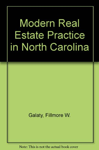 9780793108961: Modern Real Estate Practice in North Carolina