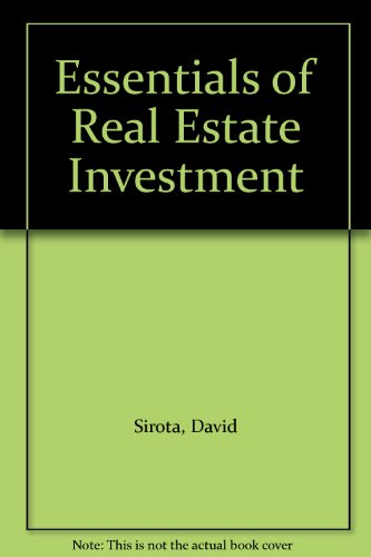 9780793111084: Essentials of Real Estate Investment