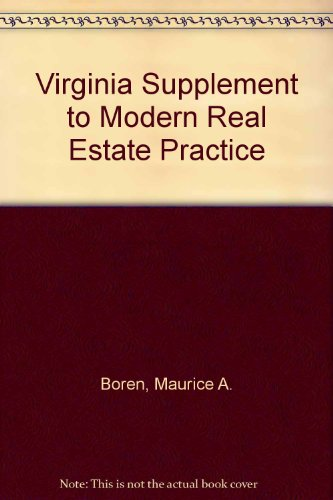 9780793112159: Virginia Supplement to Modern Real Estate Practice