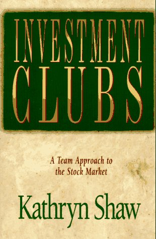 9780793113453: Investment Clubs: A Team Approach to the Stock Market