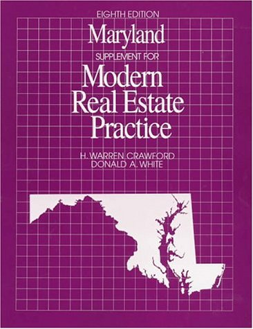 9780793115006: Maryland Supplement for Modern Real Estate Practice