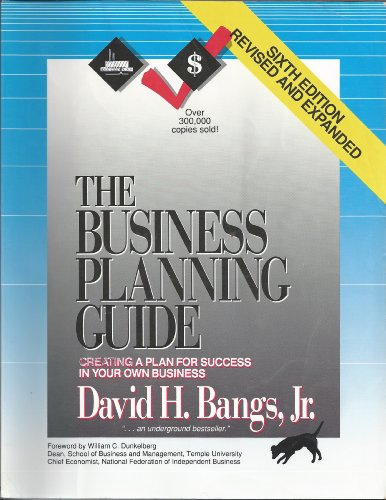 9780793116560: the business planning guide: creating a plan for success in your own business