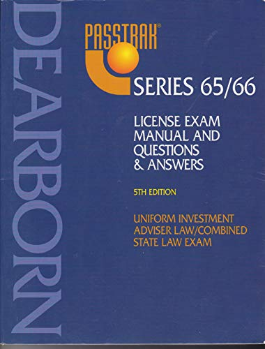 9780793118403: Pass Trak Series 65/66, Uniform Investment Adviser Law/Combined State Law Exam: Principles & Practices, Questions & Answers