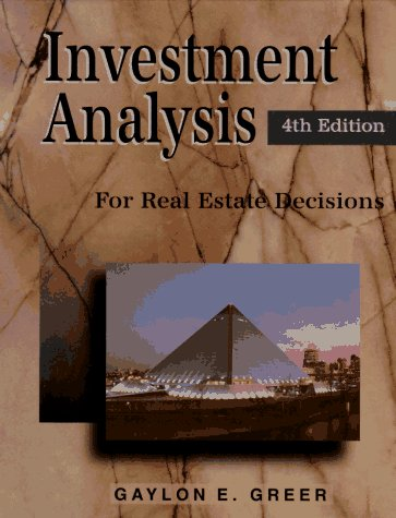 9780793122264: Investment Analysis for Real Estate Decisions