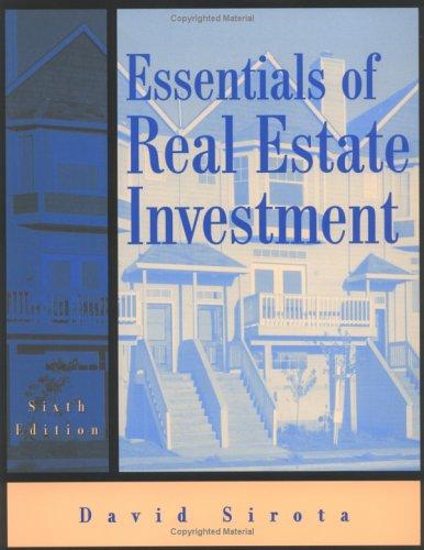 9780793126309: Essentials of Real Estate Investment