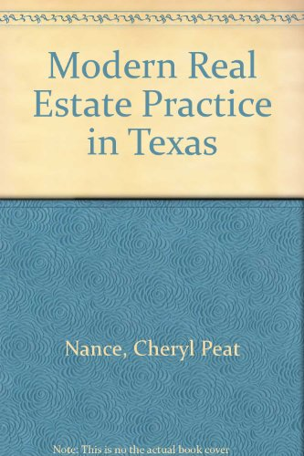 Modern Real Estate Practice in Texas: Nance, Cheryl Peat