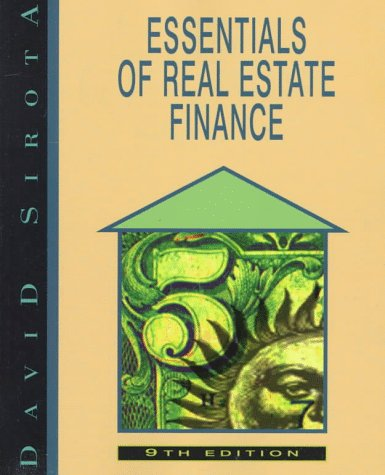 9780793127689: Essentials of Real Estate Finance