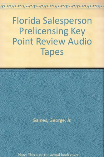 9780793129737: Florida Salesperson Prelicensing Key Point Review Audio Tapes