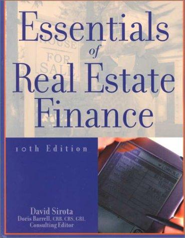 9780793135196: Essentials of Real Estate Finance