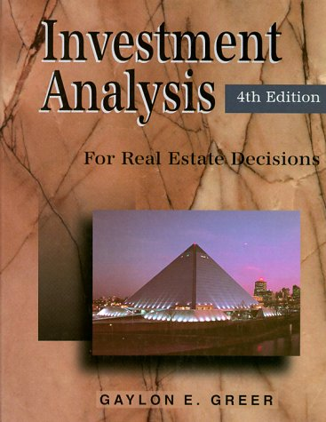 9780793136520: Investment Analysis for Real Estate Decisions