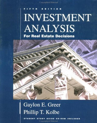 9780793136605: Investment Analysis for Real Estate Decisions