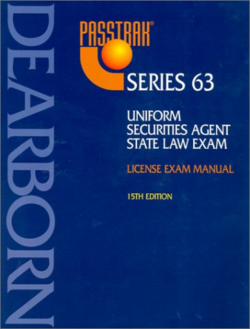 9780793142385: Uniform Securities Agent State Law Exam: License Exam Manual : Series 63