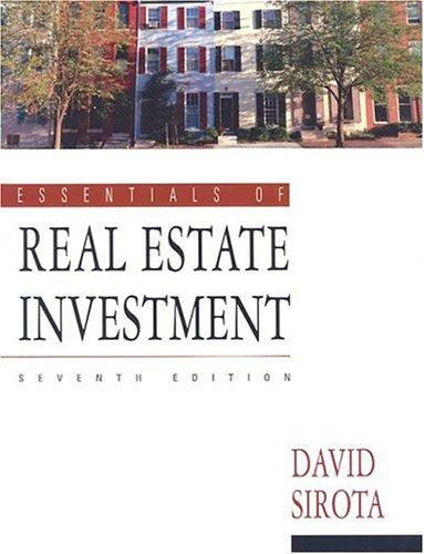 9780793143610: Essentials of Real Estate Investment