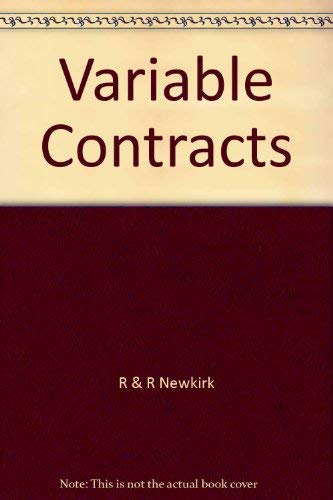 Variable Contracts (0793148448) by R & R Newkirk; Mitchell, Carolyn B.; Tromblay, Dan
