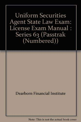 9780793151004: Uniform Securities Agent State Law Exam: License Exam Manual : Series 63 (Passtrak (Numbered))
