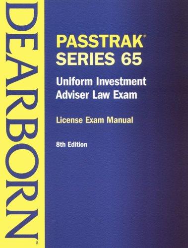 9780793152414: Uniform Investment Adviser Law Exam: License Exam Manual (Passtrack Series 65)