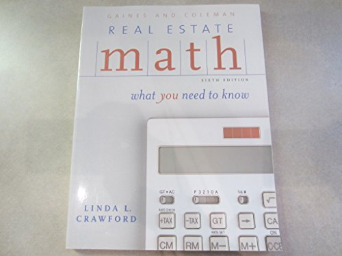 9780793168262: Real Estate Math: What You Need to Know