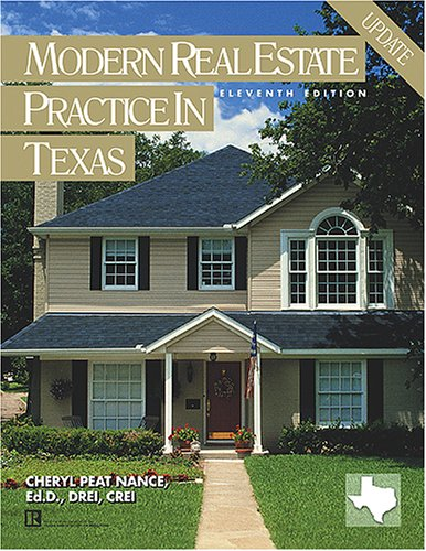 Modern Real Estate Practice in Texas (Modern: Cheryl Peat Nance