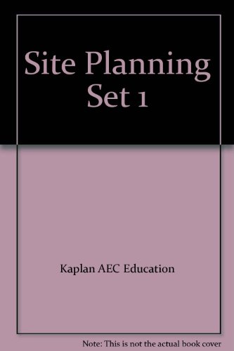 9780793186235: Site Planning Exam Set 1: ARE Graphic Division Practice Vignettes: Architectural License Seminars